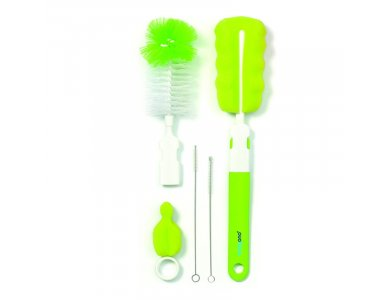 BabyOno Set Of Brushes, Βούρτσα για μπουκάλια και θηλές, Πράσινο