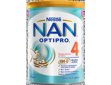 Nestle Nan Optipro 4, Ρόφημα Γάλακτος σε Σκόνη από το Δεύτερο Χρόνο, 400gr