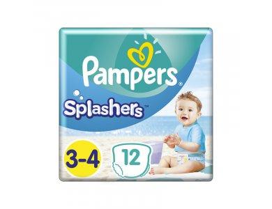 Pampers Splashers Μέγεθος 3-4 (6-11 kg) Πάνες-Μαγιό, 12τμχ