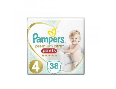 Pampers Premium Care Pants No.4 (9-15kg) Πάνες Βρακάκι, 38τμχ