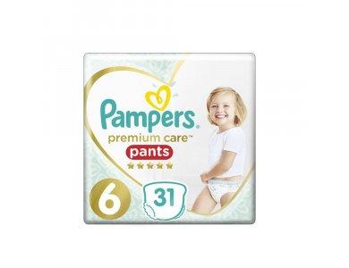 Pampers Premium Care Pants No.6 (15+kg) Πάνες Βρακάκι, 31τμχ