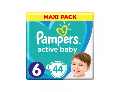 Pampers Active Baby Πάνες Maxi Pack Μέγεθος 6 (13-18 kg), 44τμχ