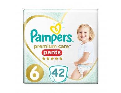 Pampers Premium Care Pants Jumbo Pack No.6 (15kg+) Πάνες Βρακάκι, 42τμχ