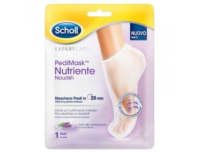 Scholl ExpertCare PediMask Nutriente Nourish Μάσκα Ποδιών Με Έλαιο Λεβάντας, 1 ζεύγος