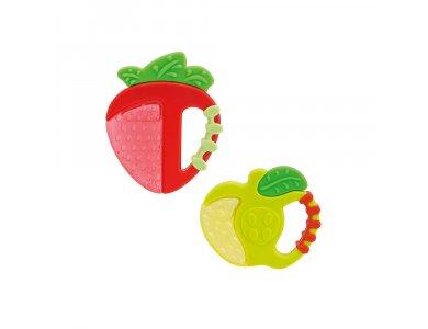 Chicco Δροσιστικός Κρίκος Οδοντοφυΐας, 4m+, Φράουλα-Μήλο, 1τμχ