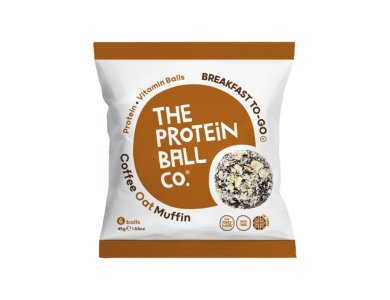 The Protein Ball Co. High Protein Coffee Oat Muffin Μπαλίτσες Πρωτεΐνης με Γεύση Καφέ, 6 balls