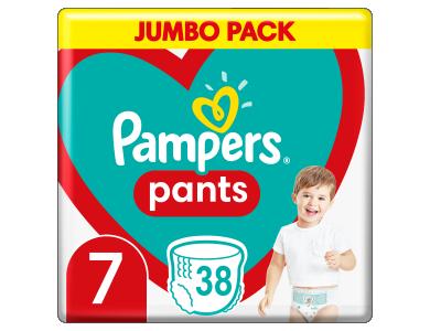 Pampers Pants Jumbo Pack No.7 17+kg Βρεφικές Πάνες Βρακάκι, 38τμχ