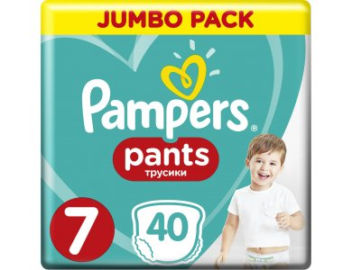 Pampers Pants Jumbo Pack No.7 (Extra Large) 17+ kg Βρεφικές Πάνες Βρακάκι, 40τμχ