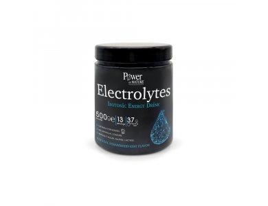 Power Health Electrolytes Isotonic Energy Drink, Συμπλήρωμα Διατροφής Με Ηλεκτρολύτες & Βιταμίνες Για Αθλητές, 500gr