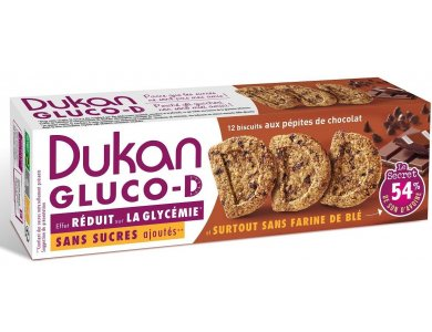 Dukan Μπισκότα Βρώμης GLUCO-D με κομμάτια Σοκολάτας, 100gr