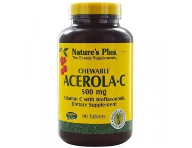 Nature's  Plus Acerola-C Complex 500mg Chewable 90tabs