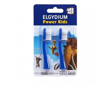 Elgydium Power Kids Refill I.A. Blue Ανταλλακτικά 2τμχ