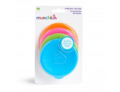 Munchkin Miracle Cup Lids,Καπάκι Ποτηριού Πλαστικό, 4τμχ