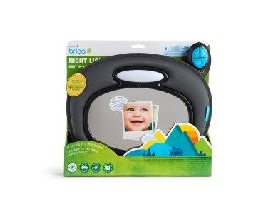 Munchkin Night Light Baby In Sight Mirror Βοηθητικός Καθρέπτης με Φως, Ήχο και Τηλεκοντρόλ, 1τμχ