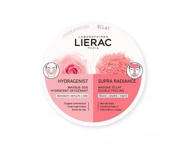 Lierac Duo Masks Hydragenist Masque SOS Hydratant Oxygenant + Supra Radiance Masque Eclat Double Peeling 2x6ml
