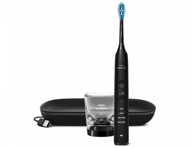 Philips Sonicare Diamond Clean 9000 Black Edition HX9911/09 Ηλεκτρική Οδοντόβουρτσα με Θήκη Ταξιδιού, 1τμχ
