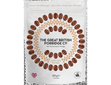 The Great British Porridge Co, Bag Caffe Latte, Νιφάδες Βρώμης με Γεύση Καφέ, Χωρίς Γλουτένη, 385gr