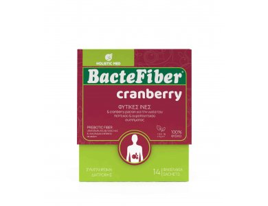 Holistic Med Βactefiber Cranberry, Για την Κινητικότητα εντέρου & Υγεία Ουροποιητικού, 14 φακελάκια