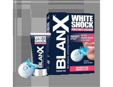 BlanX White Shock Power White Treatment – Θεραπεία  λέυκανσης δοντιών Οδοντόκρεμα 50ml + Μασελάκι Led bite