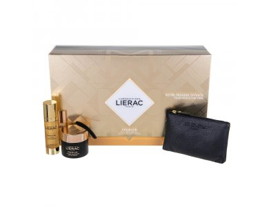 Lierac Set Premium La Cure Anti-Age Absolu Αγωγή Απόλυτης Αντιγήρανσης 30ml & Premium Soyeuse Cream 50ml & Δώρο Δερμάτινο Πορτοφόλι