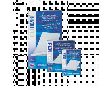Pharmasept Clifar Αποστειρωμένη Αντικολλητική Γάζα 10 x 10 cm από 100% Φυσικό Βαμβάκι, 5 τεμάχια