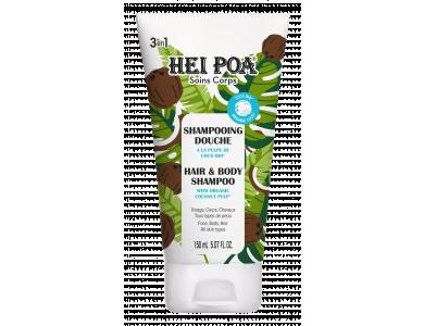 Hei Poa Coconut Hair & Body Shampoo With Organic Coco Pulp, Σαμπουάν & Αφρόλουτρο για Σώμα & Μαλλιά με Άρωμα Καρύδας, 150ml
