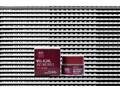 Aloe+Colors Well Aging Antiwrinkle Face Cream, Αντιρυτιδική Κρέμα Προσώπου, 50ml