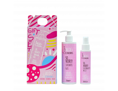 Aloe+Colors Gift Set So Velvet! Shower Gel, 250ml & Hair-Body Mist, 100ml
