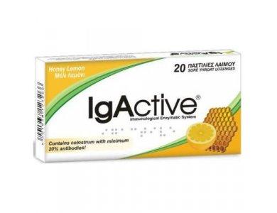 IgActive Honey & Lemon 20 Παστίλιες Λαιμού