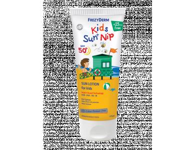 Frezyderm Kids Sun + Nip SPF50+ Παιδικό Αντιηλιακό Γαλάκτωμα για Πρόσωπο & Σώμα με Εντομοαπωθητικές Ιδιότητες, 175ml