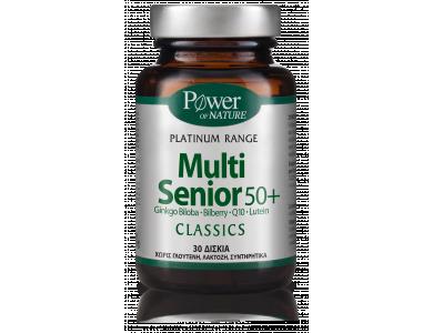 Power Health Platinum Range Multi Senior 50+ Πολυβιταμινούχο Συμπλήρωμα Διατροφής, 30 Κάψουλες