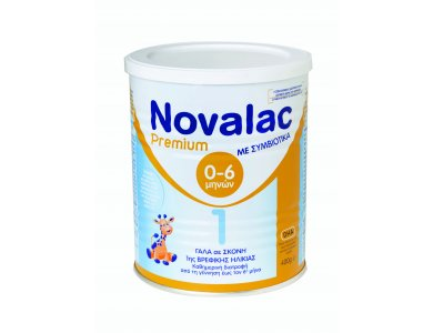 Novalac Premium 1 Γάλα 1ης Βρεφικής Ηλικίας, από τη γέννηση έως τον 6ο μήνα, 400gr