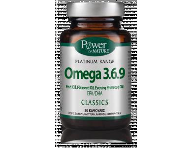 Power Health Platinum Range Omega 3.6.9. Καρδιά-Εγκέφαλος-Χοληστερίνη-Όραση, 30 Κάψουλες