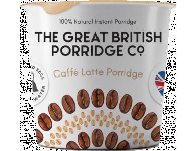 The Great British Porridge Co, Pot Caffe Latte, Νιφάδες Βρώμης με Γεύση Καφέ, Χωρίς Γλουτένη, 60gr
