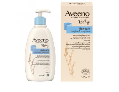 Aveeno® Baby Daily Care body hair & body wash Καθαριστικό Υγρό Σώματος & Κεφαλής 300 ml