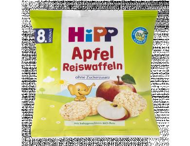 HiPP Παιδικές Ρυζογκοφρέτες Μήλου απο τον 8ο μήνα, 30gr - 15τμχ