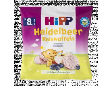 HiPP Παιδικές Ρυζογκοφρέτες Μήλο-Βατόμουρο απο τον 8ο μήνα - 30gr - 15τμχ