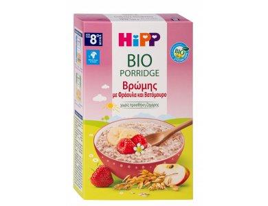 HiPP Βio Porridge Βρώμης με Φράουλα & Βατόμουρο 250gr