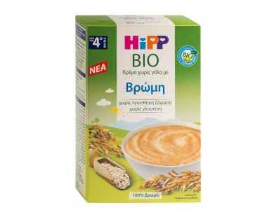 HiPP Κρέμα Βρώμη χωρίς Γάλα απο τον 4ο μήνα - 200gr