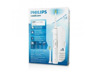 Philips Sonicare Protective Clean 6100 White HX6877/29, Ηλεκτρική Οδοντόβουρτσα