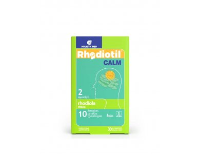 Holistic Med Rhodiotil Calm, Χαλάρωση & Ηρεμία,  30caps