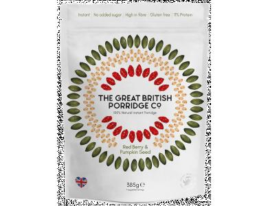 The Great British Porridge Co, Bag Berry & Pumpkin Seed, Νιφάδες Βρώμης με Γεύση Goji berries & σπόροι Κολοκύθας, Χωρίς Γλουτένη, 385gr