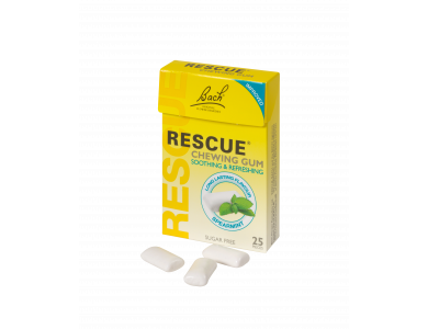 Power Health Bach Rescue Chewing Gum Τσίχλες με Ανθοϊάματα και γλυκαντικά, 25 τεμάχια