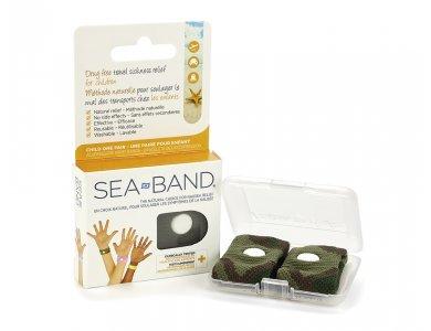 Sea Band Περικάρπια Πιεσοθεραπείας Παιδικά, Κατά της Ναυτίας, Πράσινα, 2τμχ