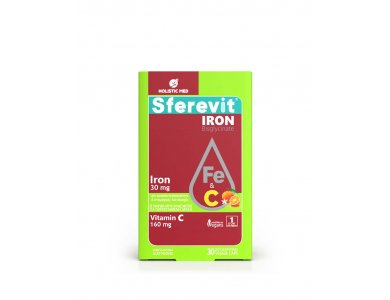 Holistic Med Sferevit Iron & Vitamin C, Τόνωση & Ενέργεια, 30caps