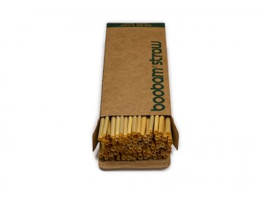 Boobam Straw Wheat Οικολογικά Καλαμάκια Σίτου, 100τμχ