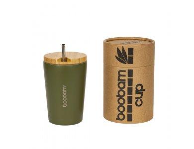 Boobam Cup Ποτήρι Θερμός 350ml, Πράσινο