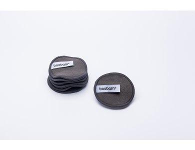 Boobam Οικολογικά Pad για Αφαίρεση Μακιγιάζ με Ενεργό Άνθρακα από Μπαμπού, Επαναχρησιμοποιήσιμα, 1τμχ