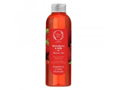 Fresh Line Strawberry & MIlk Tea Shower Gel, Φράουλα & Γάλα Αφρόλουτρο 200ml