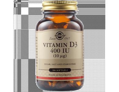 Solgar Vitamin D-3 400 IU 100softgels